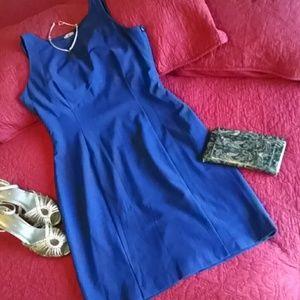 Worthington beautiful blue sheath dress with black